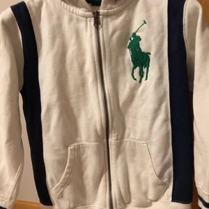 Polo zipped up hoodie cardigan size 8 boy